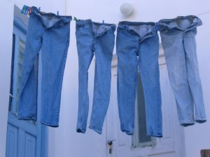 Jeans drying on laundry line: photo credit Lunario on Stock Exchange
