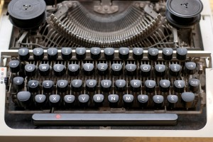 Typewriter, photo credit to Kriss Szkurlatowski on Stock Exchange