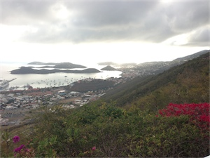 View over St. Thomas harbour